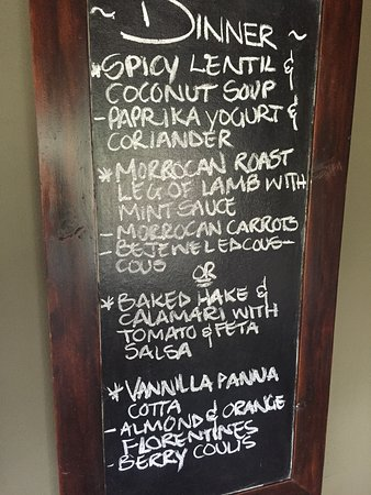 Ngala Private Game Reserve, Sudáfrica: The typical daily dinner menu