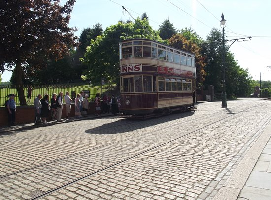 Beamish, UK: Tram queue