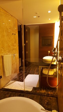 JW Marriott Hotel Shenzhen: Spacious Bathroom with separate WC