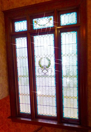 Seneca Falls, NY: original stained glass