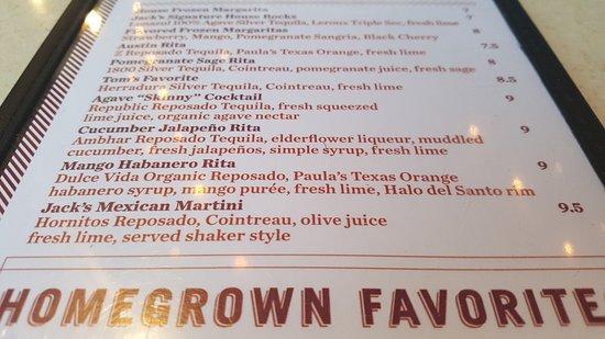 ราวน์ร็อก, เท็กซัส: Margaritas for the choosing (but choose the Mango Habanero -- FROZEN!)