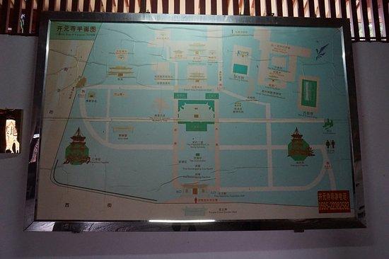 Quanzhou, China: kaiyuan temple map