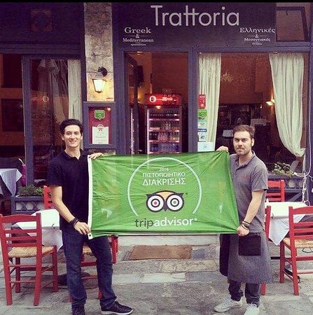 Trattoria Plaka: Certificate of Excellence 2016