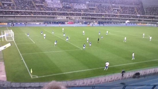 Stadio Marcantonio Bentegodi: Italia Finlandia azione di gioco