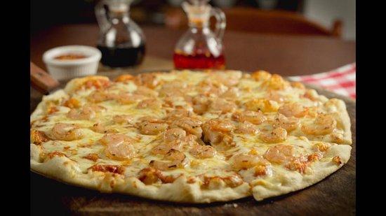 جريسيا, كوستاريكا: Nuestra exquisita PIZZA DE CAMARON