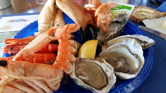 Au Temps des Huîtres : Une assiette de fruits de mer