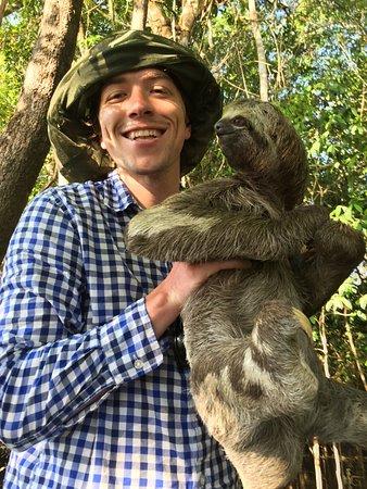 Amazon Gero Tours: This female sloth really took to us