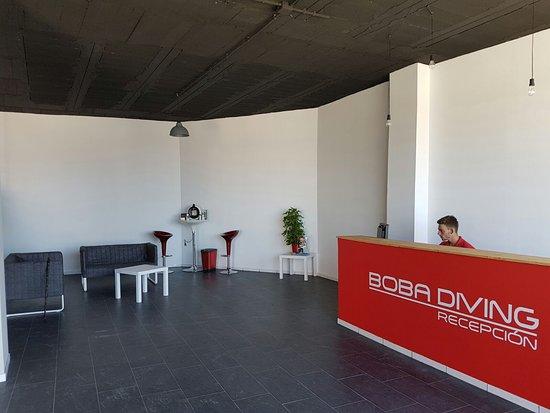 Isla Plana, Spanien: Recepción Boba Diving