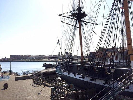Хартлпул, UK: HMS Trincomalee from Portofino's windows