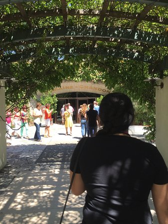 Yountville, CA: Walking up to the entrance