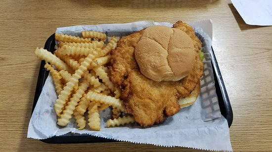 Perry, IA: Tasty tenderloin.