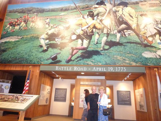 Minute Man Visitor Center: Large Mural Depicting Battle Site