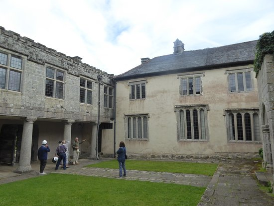 Helston, UK: The courtyard at Godolphin (formerly the site of the great hall)