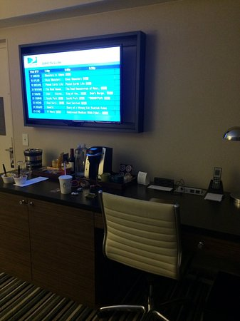 The Kimpton George Hotel: Huge pull-out TV
