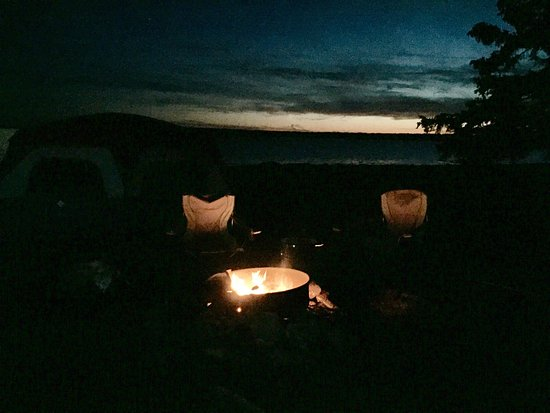 Bar Harbor Campground KOA: View from site 405.
