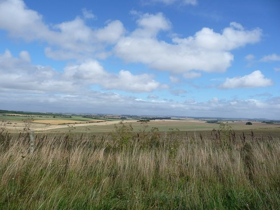 Shrewton, UK: Blue sky over Salisbury Plain
