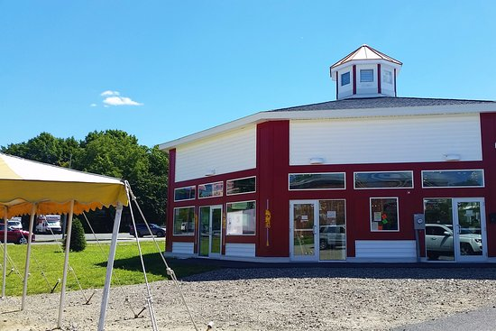Pittsfield, MA: Event tent and the side entrance to the carousel.
