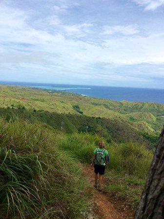 Agat, Mariana Islands: On the way down