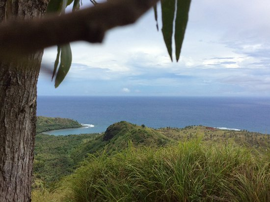 Agat, Mariana Islands: Took this shot while perched on a low branch of a tree along the way