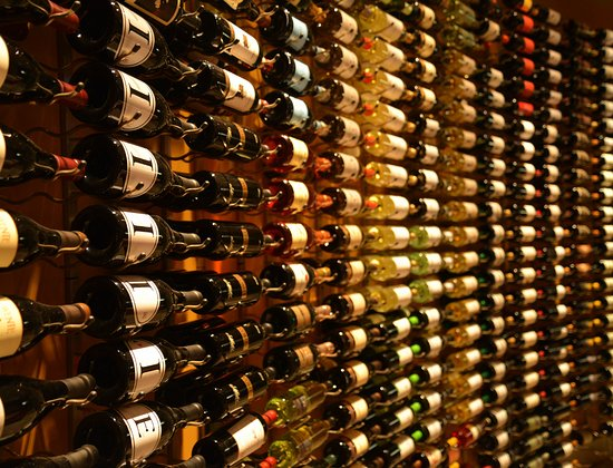 Breakwater Restaurant: The Wall of Wine (most available by the glass)