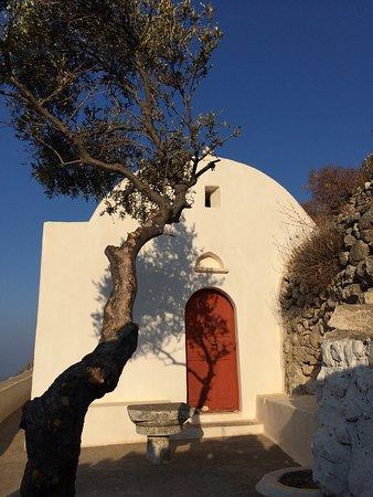 Halki, Yunanistan: Hora - la chiesa principale apre solo   2 giorni ad agosto