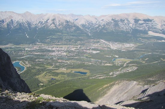 Ha Ling Peak: Canmore, from the top