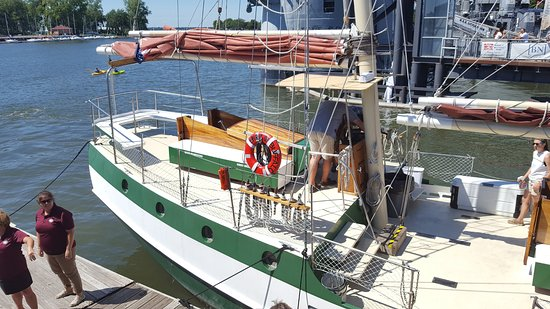 Spirit of Buffalo - Buffalo Sailing Adventures: Spirit of Buffalo in port at Canalside, downtown Buffalo.