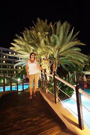 Mediterranean Beach Hotel: Отель вечером