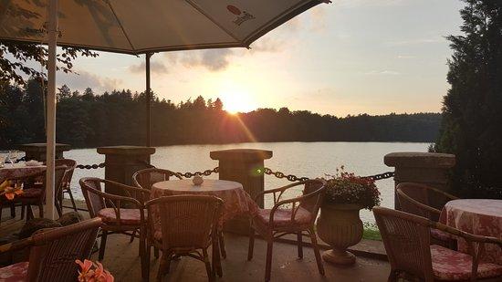 Krag, Poland: Terrasse