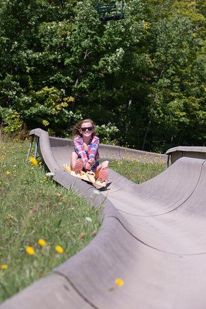 Peru, VT: The Triple Track Alpine Slide at Bromley Mountain!