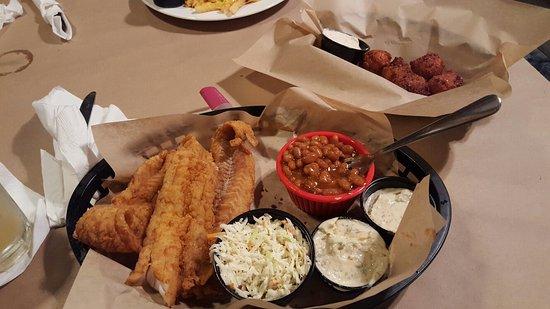 Farmville, VA: Alaskan pollock fish basket.