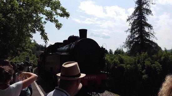 Anduze, France: Arrivée du train