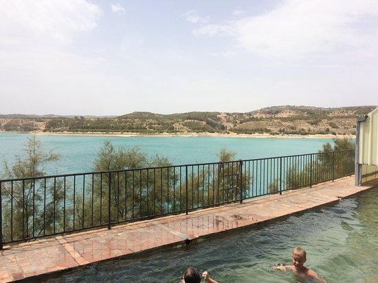 Zujar, Spain: View across lake Negratin