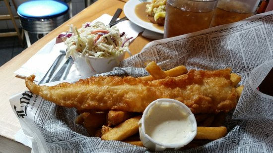 Greasy terrible fish and chips picture of mac 39 s fish for Mac s fish and chips