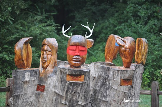 Red Clay State Historic Park: Intriguing artwork celebrating the region's first nations.