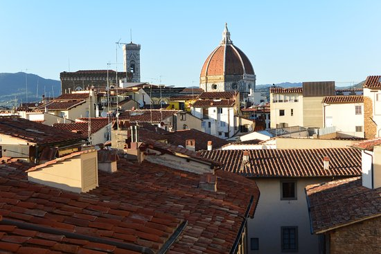 Hotel Degli Orafi: View from rooftop bar