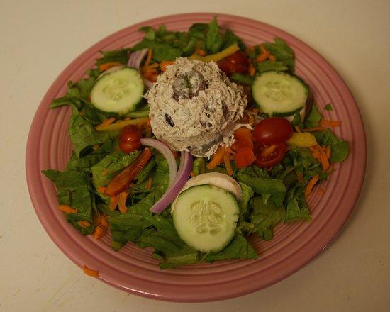 West Chester, Pensilvania: Garden fresh salad and tuna