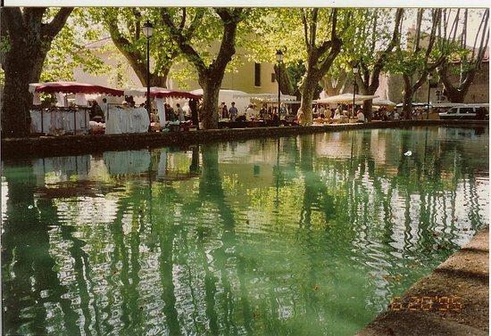 Central water trough & market place Cucuron, France