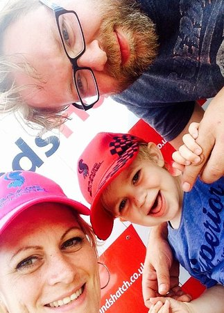 Fawkham, UK: A very happy family enjoyed their day at Brands Hatch