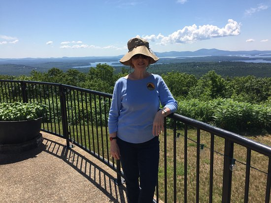 Moultonborough, NH: View overlooking lakes from Castle in the Clouds