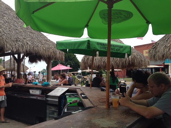 Mojito Bay Tiki Bar: View from the bar that's not under the thatched roof