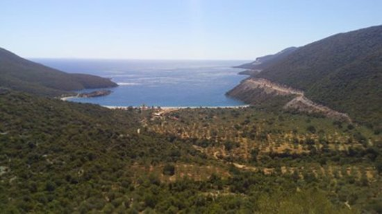 Fokiano, Grécia: Ο κόλπος του Φωκιανού από ψηλά