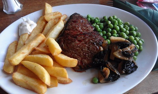£4.95 steak and chips