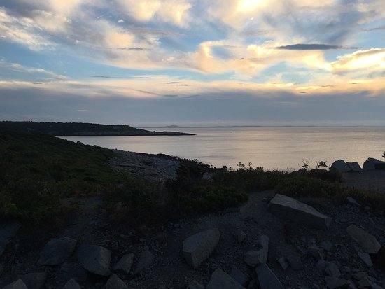 Rockport, MA: Gorgeous sunset even though the clouds blocked the sun.