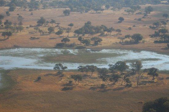 Маун, Ботсвана: vista aérea do delta
