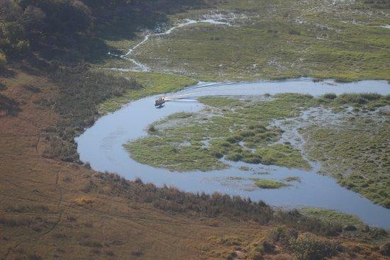 Maun, Botswana: vista aérea do delta