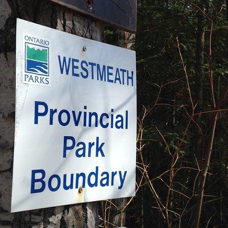 Westmeath, Canada: Park Boundary
