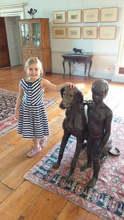 Burton Agnes, UK: my grand daughter enjoying posing