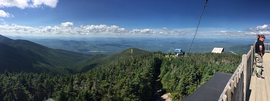 Franconia, NH: Panoramic view looking North from the top of the observation tower.