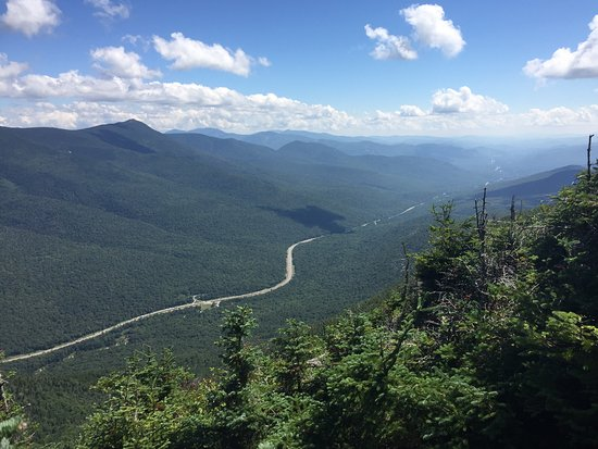 Franconia, NH: I-93 winding South. Taken from the trail to the observation tower.